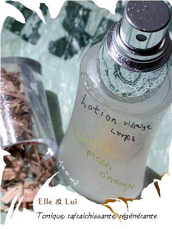 lotion tonique parfumante & régénérante visage & corps - Elle et Lui